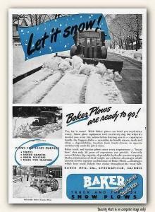 A Baker snowplow