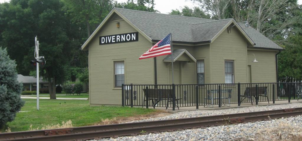 The restored Divernon train depot (SCHS photo)