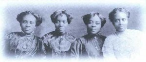 Eva Carroll Monroe, second from right, and her sisters