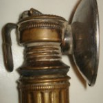 A Shanklin 'Guy's Dropper' miner's lamp