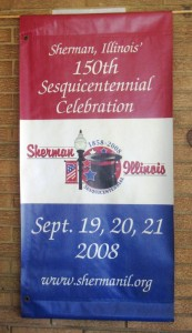 Sherman anniversary banner (courtesy Betty Poe)
