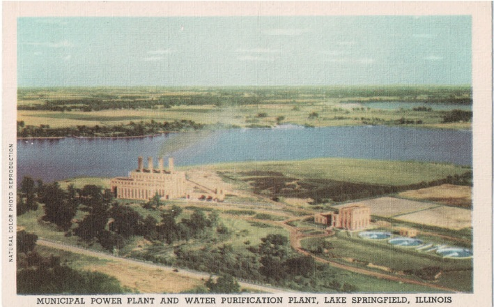 Postcard view of CWLP facilities, 1940