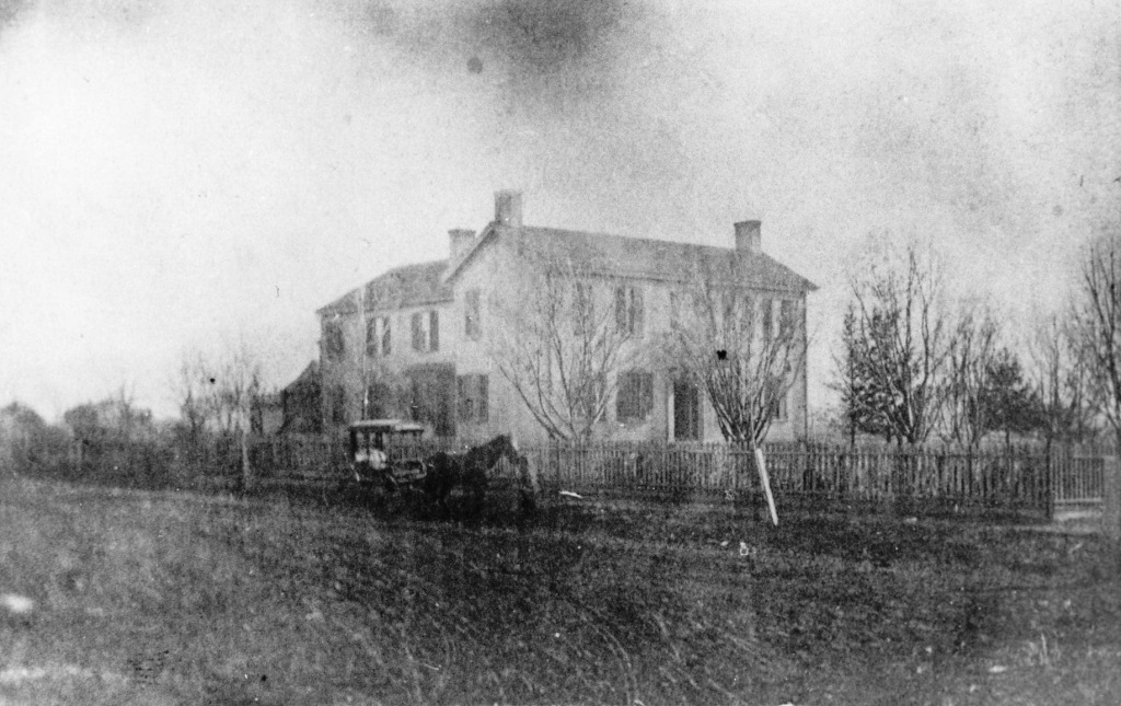 The Taylor House in an undated photo (Sangamon Valley Collection)