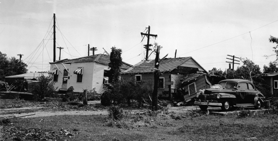 Tornado damage (Sangamon Valley collection)