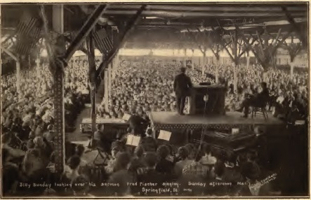Billy Sunday's Springfield revival, afternoon of March 7, 1909 (Souvenir booklet)