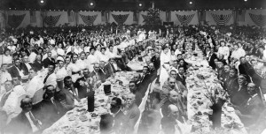 Banquet inside the Dome Building (Sangamon Valley collection photos)