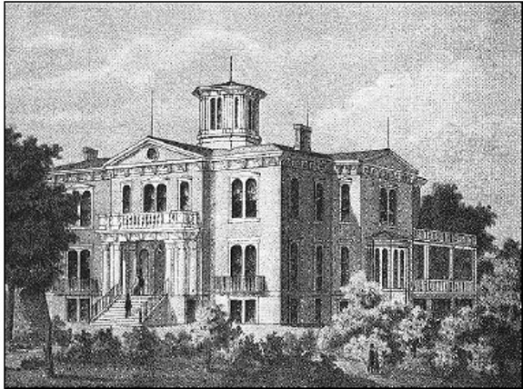 Executive Mansion, about 1860