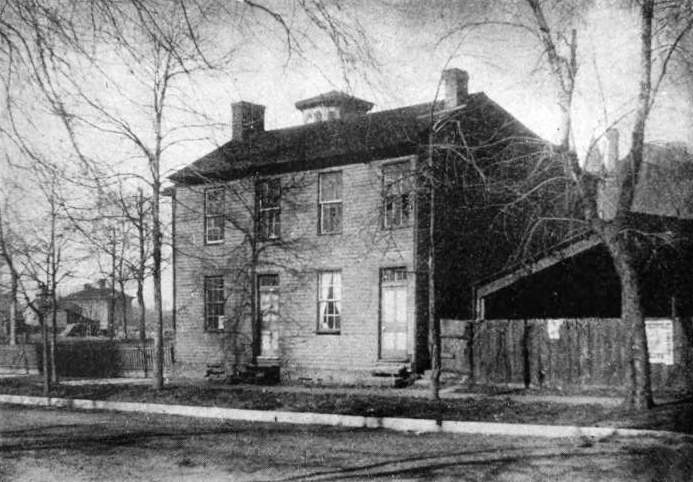 The Globe Tavern, 1886 (photo from 'Abraham Lincoln: Story of a Great Life,' by William H. Herndon and Jesse W. Weik, 1888.