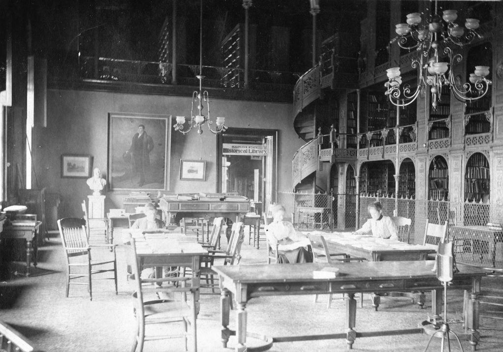 Illinois State Library Circa 1900 Photo SangamonLink