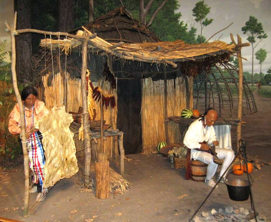 An Illinois State Museum diorama illustrates a Kickapoo dwelling. (SCHS photo)