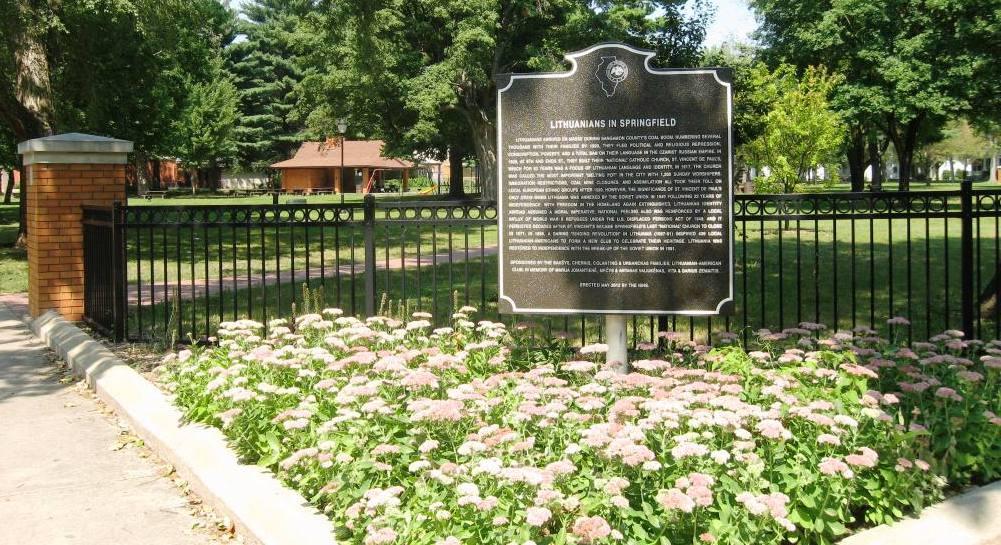 Enos Park marker (SCHS photo)