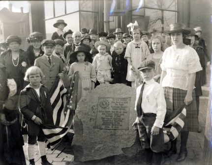 Sangamon County centennial marker dedication, 1921