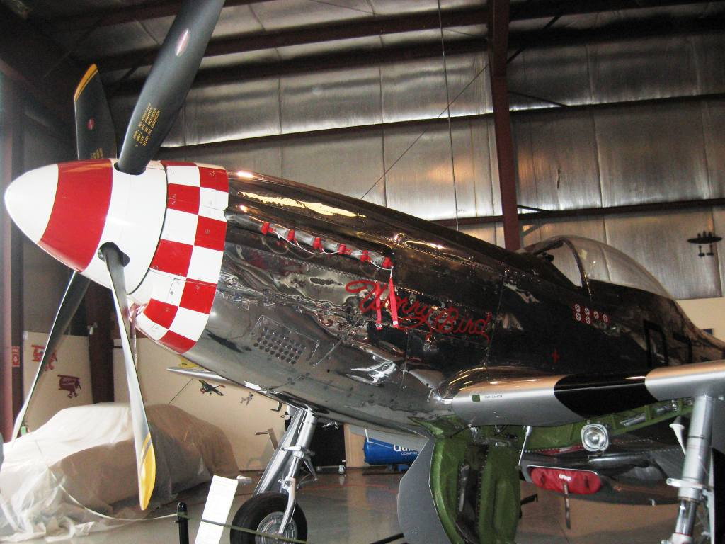 Mike George's P51-D Mustang fighter plane from World War II (SCHS photo)