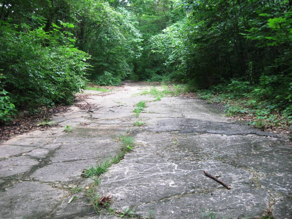 Section of Route 66 (abandoned in 1936) near Carpenter Park