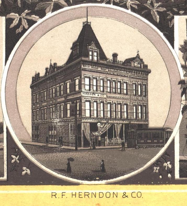 R.F. Herndon in 1890 (Souvenir of Springfield, H.E. Barker)