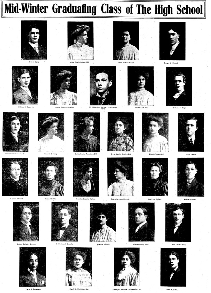 Josephine Snowden, second from right, bottom row