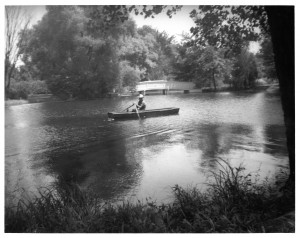 The pond at Wheeland Haven, about 1920 (Sangamon Valley Collection)