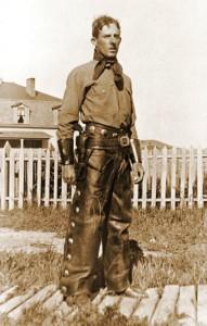 2nd Lt. Arthur Wilson while on reservation duty in the Black Hills, 1900s (N. Wilson, findagrave.com)
