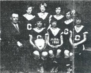 The 1925-26 Chatham High School girls basketball team went undefeated, outscoriing opponents 21-5