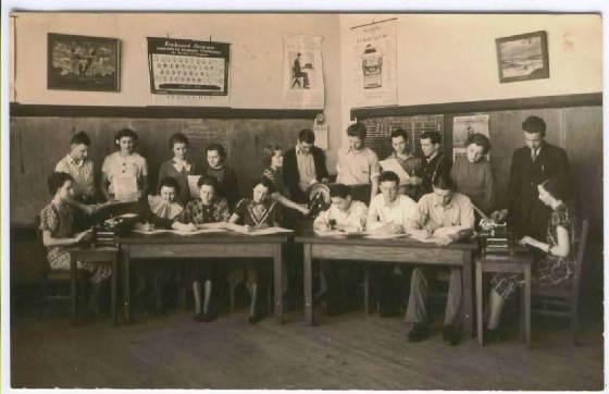 Ball Township H.S. classroom, 1936 (Illinois Glory Days)