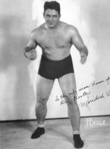 Rhule in a publicity photo  during his wrestling career