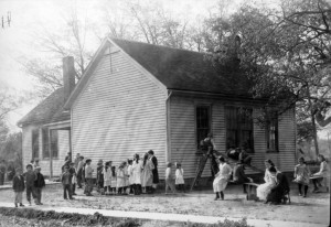 Spaulding School, about 1912 (Sangamon Valley Collection)