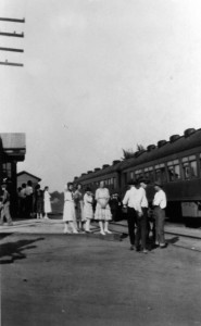 Train station, 1920s (Sangamon Valley Collection)
