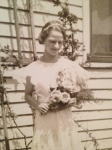 Eleanora Treinis, 14, in the wedding party where she met her future husband, John P. Yuskavich Jr.