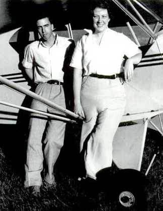 O'Brien with student Phil Spengler (Sangamon Valley Collection)
