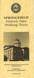 Springfield Historic Sites Walking Tours, booklet published by the HPAS in 1998 (courtesy David Scott)
