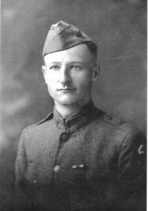 John Joseph  Straukas in uniform, age 28. (Courtesy  Lithuanians in Springfield)