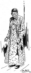 Woman resident of the poor farm, drawn by Alfred S. Harkness (The Survey, April 5, 1913)