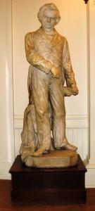 Leonard Volk's statue of Stephen A. Douglas (SCHS photo)