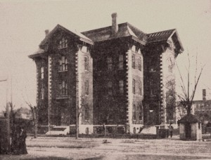 Springfield HIgh School as it appeared at Fourth and Madison streets from 1865 to 1897. (Sangamon Valley Collection)