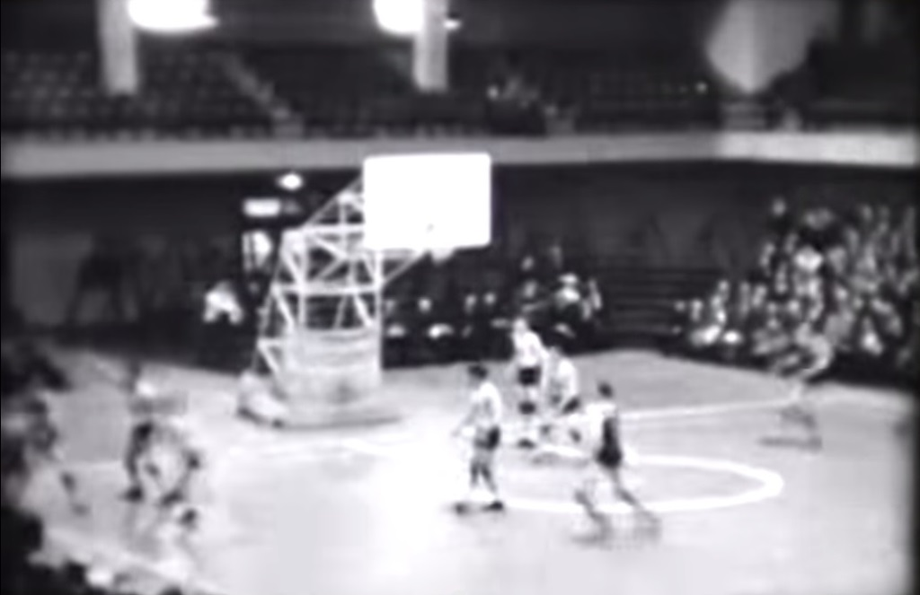 1933 semifinal game, SHS vs. Hutsonville (IHSA screen capture)