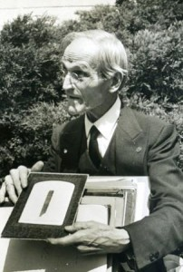 Fay with one of his 'relics,' late 1940s