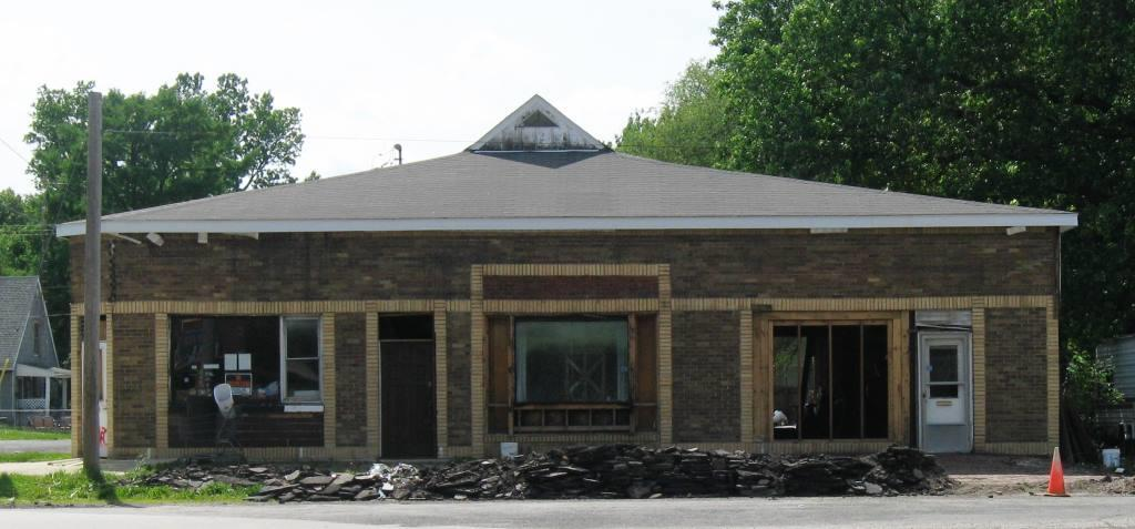 Former Ridgely village hall, 1901 N. Elizabeth St., under reconstruction in 2015 (SCHS)