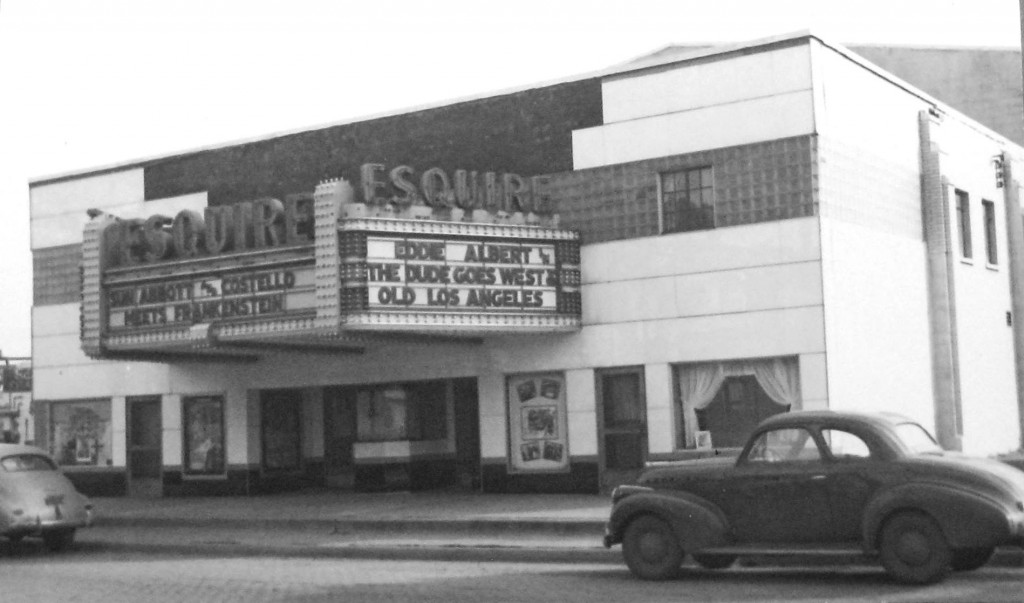 The Esquire theater, 1948 (Sangamon Valley Collection)