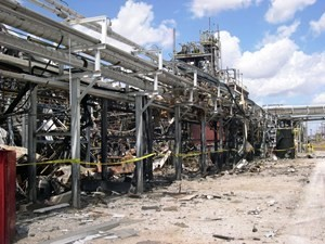 Damage from the Formosa Chemicals explosion, 2004 (U.S. Chemicals Safety Board)