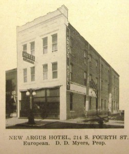 The Argus Hotel (this and others below from Springfield: The Capital of the State of Illinois, 1912)