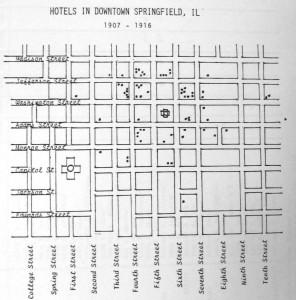 Hotel locations, 1906-17 (Charles Kirchner)