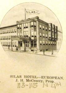 Hotel Silas, 1912