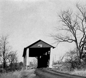 Spring Creek Covered Bridge in an undated photo (Illinois State Museum)