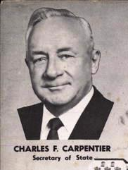 Charles F. Carpentier, Secretary of State