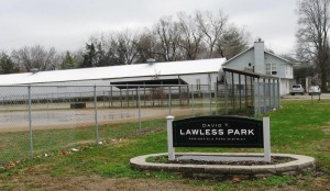 A diamond at David Lawless Park, winter 2015 (SCHS)