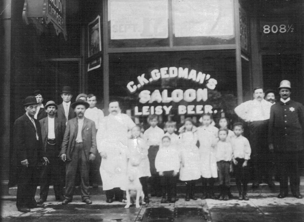 Charles Gedman saloon, 801 E. Washington St., undated (courtesy Rita Marley)