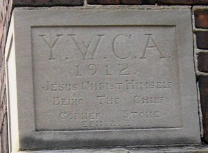 YWCA building cornerstone, 2016 (SCHS)