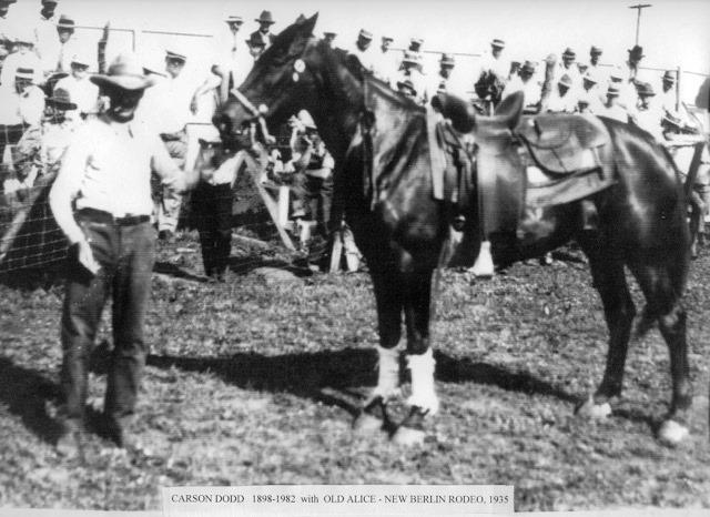 Carson Dodd at the Stapleton Rodeo, 1935 (Coutesy Gene Dodd)