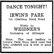 1922 newspaper advertisement (SJR)