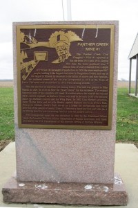 East-side plaque recognizes mine, town of Irwin (SCHS)